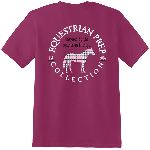 Preppy Plaid Horse - Adult Short Sleeve Tee EP-140