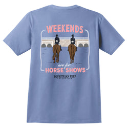 Weekends Are For Horse Shows - Adult Short Sleeve Tee EP-146