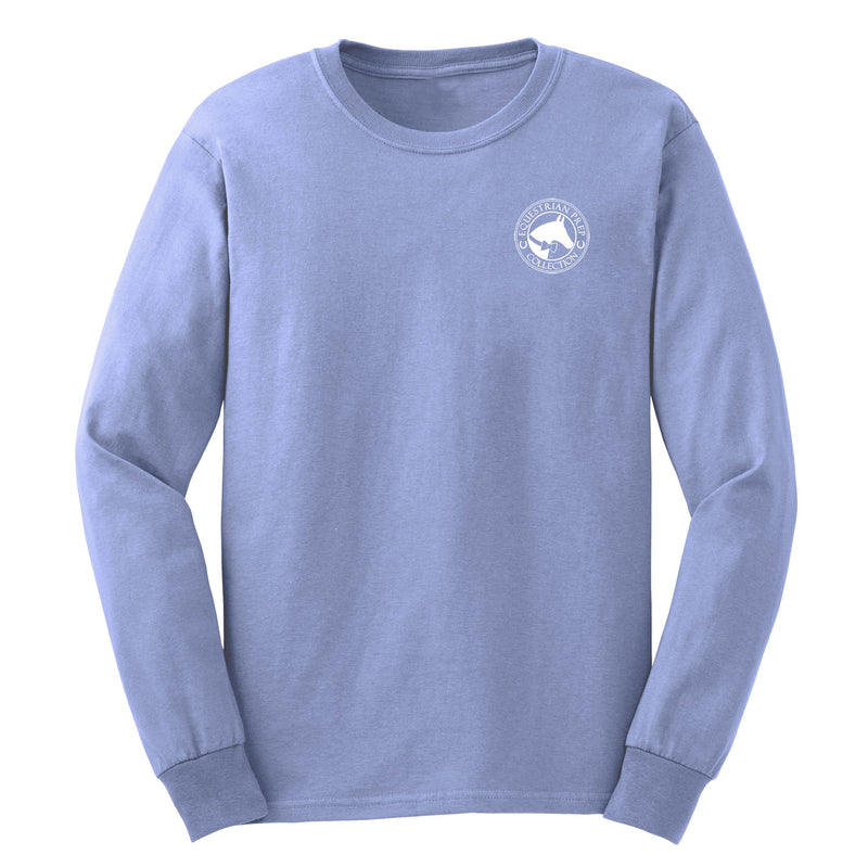 Weekends Are For Horse Shows - Adult Comfort Colors Long Sleeve Tee EP-175