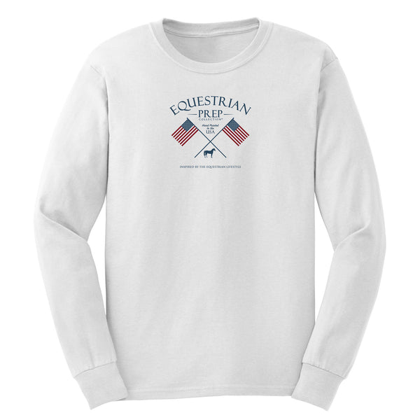 Flags Crossed - Adult Comfort Colors Long Sleeve Tee EP-180