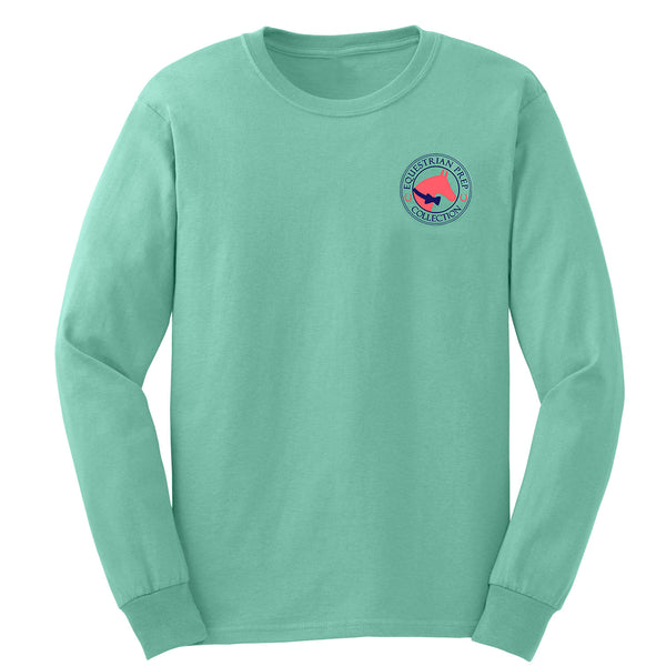 Preppy Pattern Horse - English - Youth Long Sleeve - EP-301