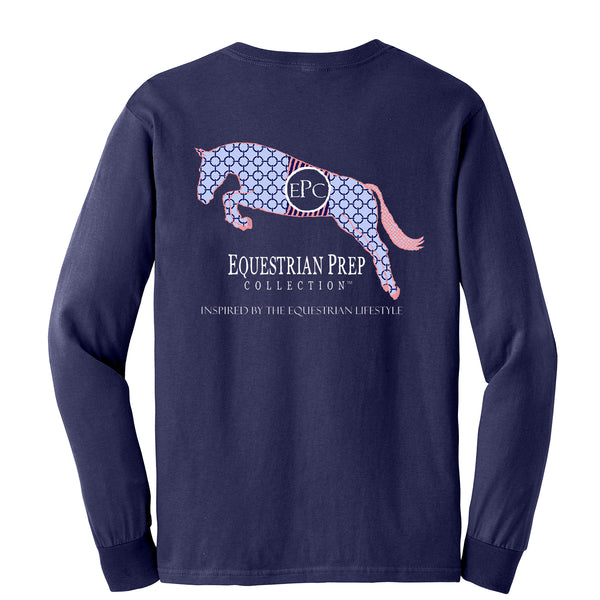 Preppy Pattern Jumping Horse Long Sleeve - EP-50