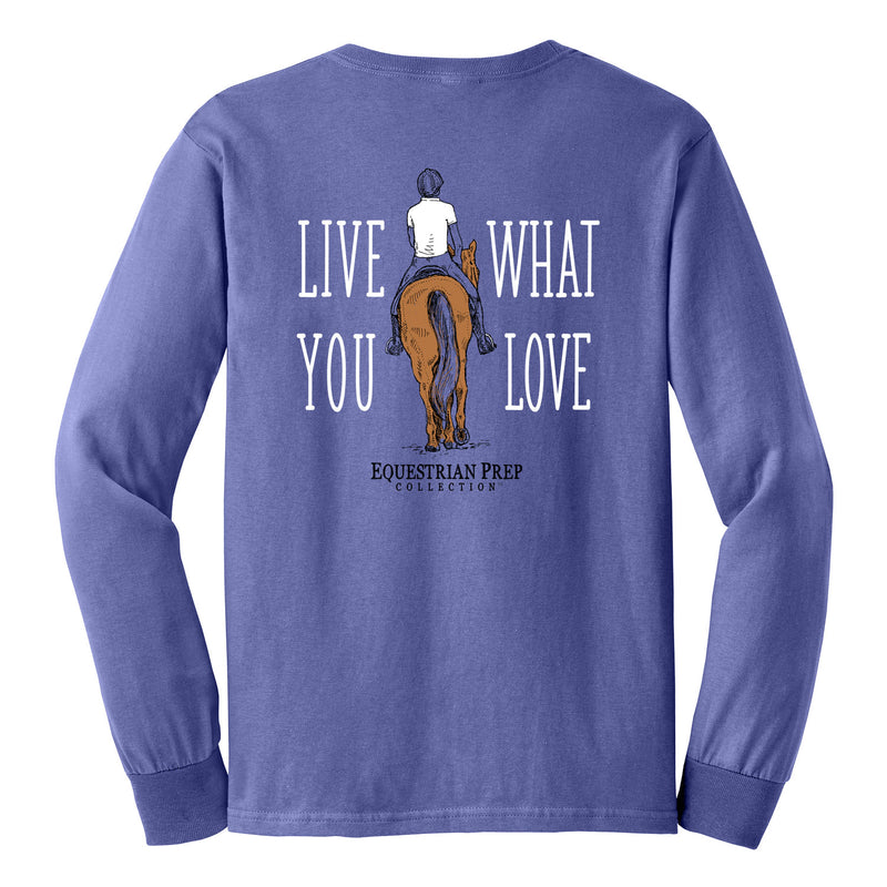 Live What You Love - Youth Comfort Colors Long Sleeve Tee EP-313