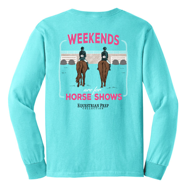 Weekends Are For Horse Shows - Youth Comfort Colors Long Sleeve Tee EP-322