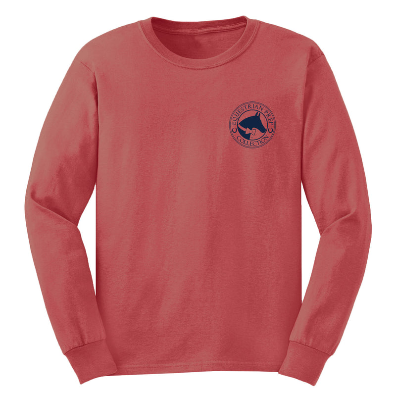 Blessed With A Great Horse - Youth Comfort Colors Long Sleeve Tee EP-315