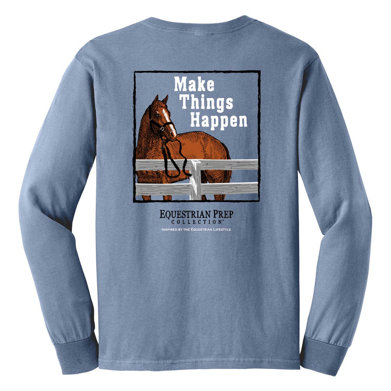 Make Things Happen - Youth Comfort Colors Long Sleeve Tee EP-316