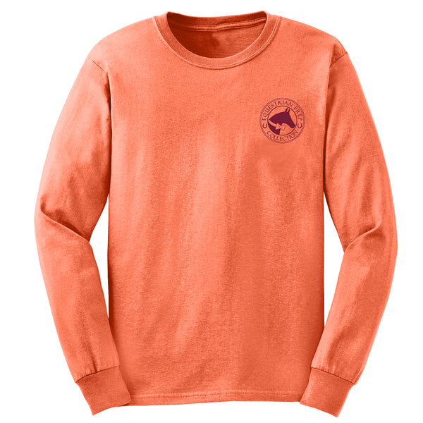 Hot To Trot - Youth Comfort Colors Long Sleeve Tee EP-321