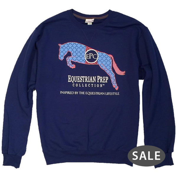 Preppy Jumping Horse Adult Crewneck Sweatshirt - EP-562