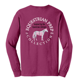 Preppy Plaid Horse - Long Sleeve EP-75