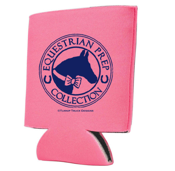 "Hot Pink ""Equestrian Prep Collection"" Can Cooler"