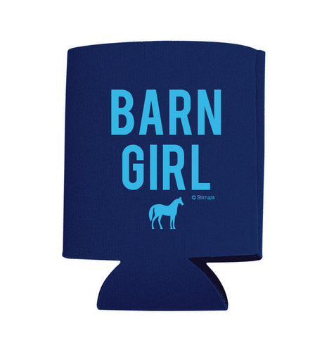 "Navy ""Barn Girl"" Can Cooler"