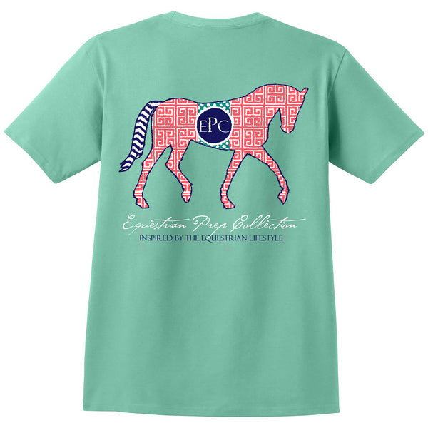 Preppy Pattern Horse - Adult Short Sleeve Tee EP-117