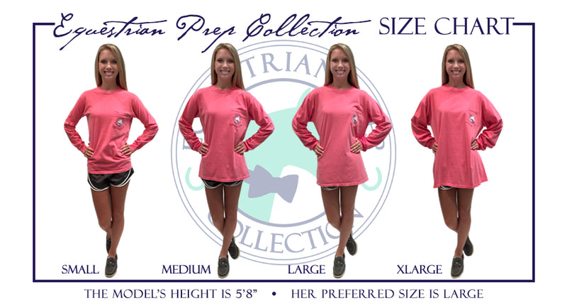 Equestrian Sports - English - Adult Comfort Colors Long Sleeve Tee EP-103