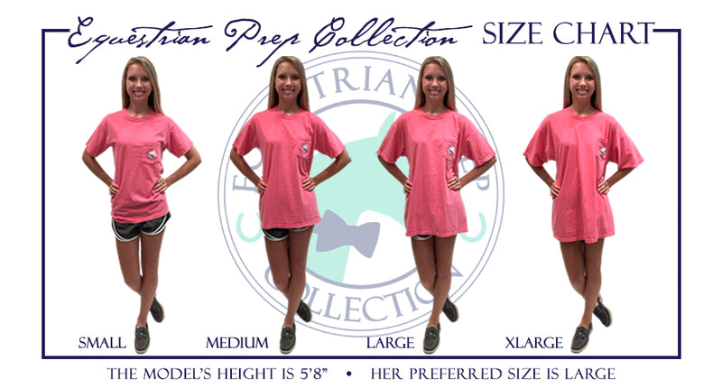 Preppy Pattern Jumping Horse Short Sleeve - EP-121