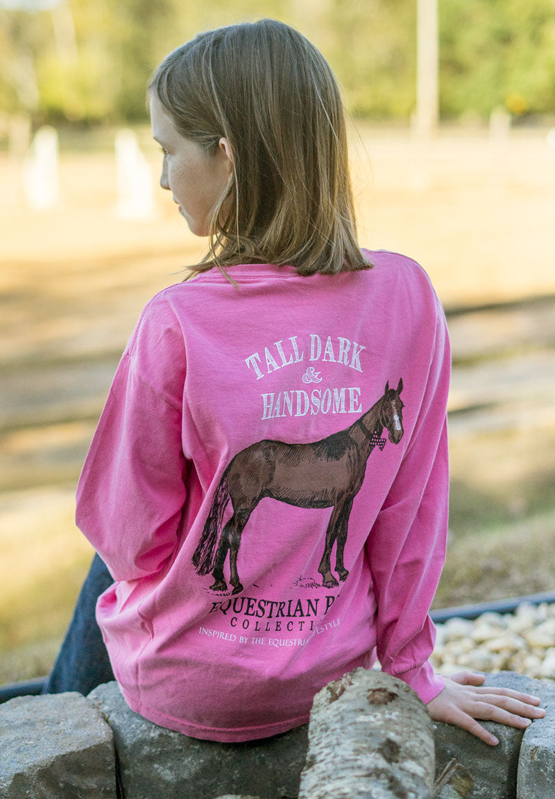 Tall Dark & Handsome - Youth Comfort Colors Long Sleeve Tee EP-308