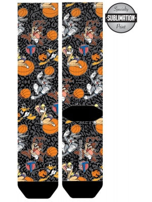 Space Jam Cartoon Characters Crew Socks