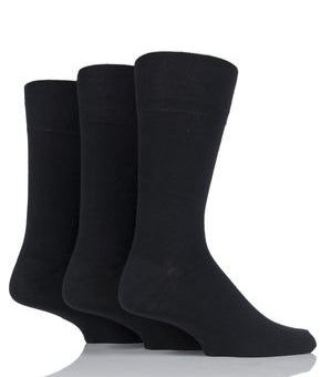Gentle Grip Bamboo - Black (3 pairs)