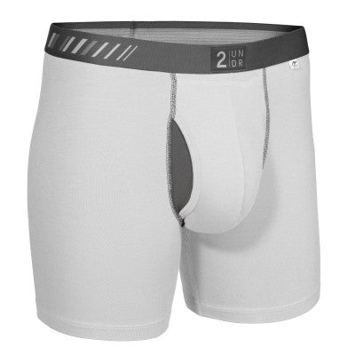 2UNDR Swing Shift Underwear (White/Grey)