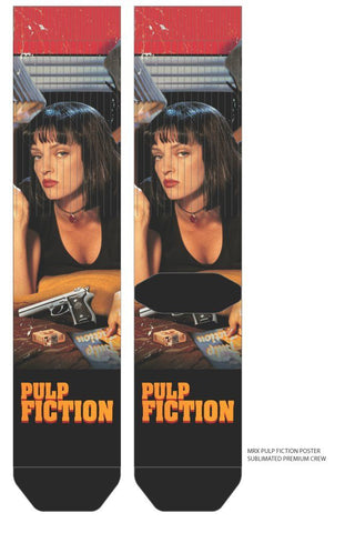 Pulp Fiction Poster Socks