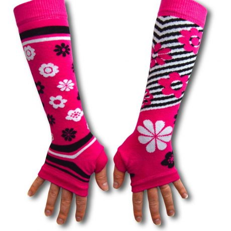 Armwarmers (Pink Flowers)