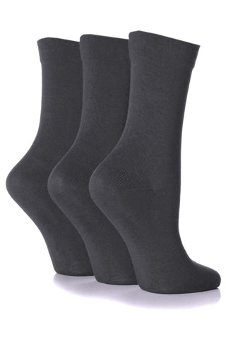 Gentle Grip Bamboo - Grey (3 pairs)
