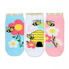 Like Bees - 3 Single Girls Low Socks