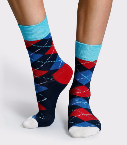 Argyle - blue/red/white