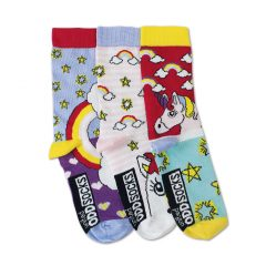 Unicorns - 3 Single Girls Socks