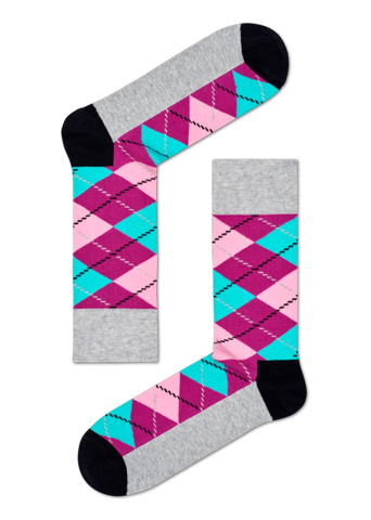 Argyle (Grey/Purple)
