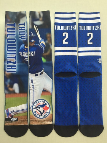 Toronto Blue Jays Troy Tulowitzki  Field Stripe Crew Socks