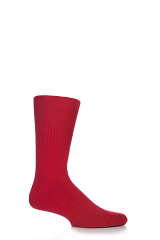 Gentle Grip Cushioned Foot Diabetic Socks - Red
