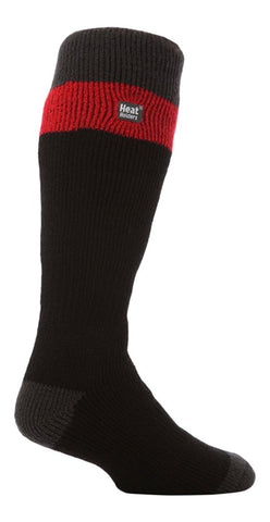 Heat Holders Long Stripe Thermal Ski Socks - Black