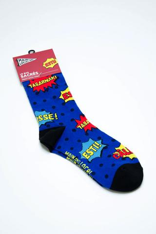 Montreal Swear Words Socks