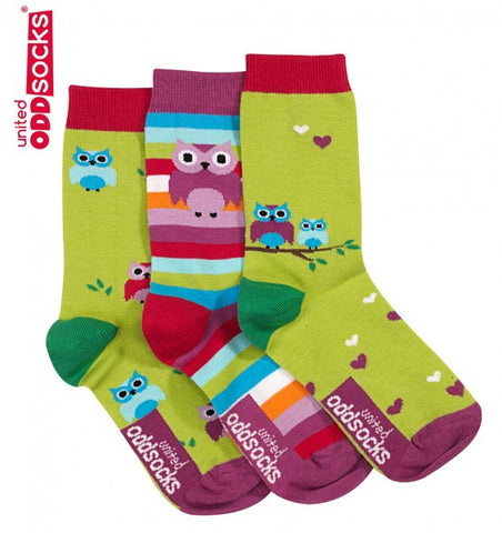Owls - 3 single socks
