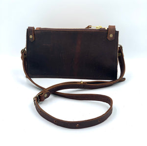 Flat Axis Deer Hair-on-Hide Leather Crossbody / Clutch Bag