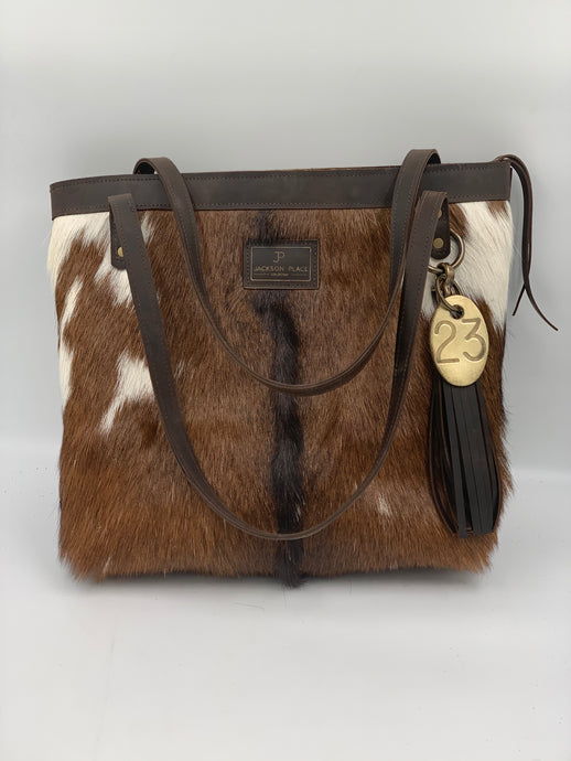 ONE OF A KIND - Large Hair-on-Hide Leather Tote Bag