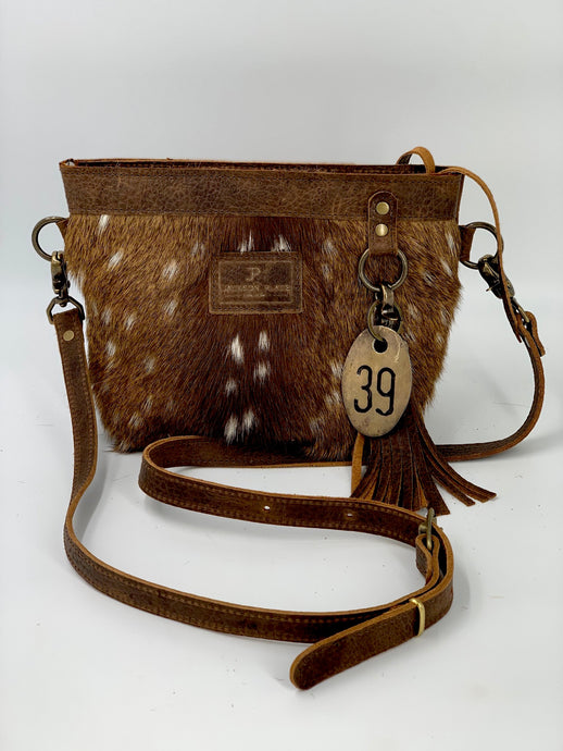 Axis Deer Hair-on-Hide Small Leather Crossbody