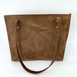 Medium Blonde Palomino Hair-on-Hide Leather Tote Bag