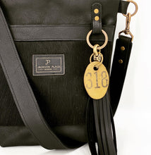 Load image into Gallery viewer, Black Hair-on-Hide Small Leather Bucket Bag