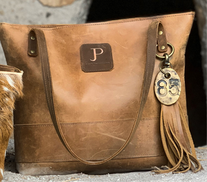 Large Saddle Brown 1 Oil Tanned Leather Tote