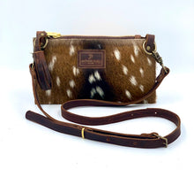 Load image into Gallery viewer, Flat Axis Deer Hair-on-Hide Leather Crossbody / Clutch Bag