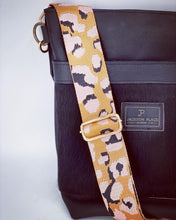 Load image into Gallery viewer, Blush Pink Animal Print Adjustable Woven Metallic Bag Strap - Leopard / Cheetah