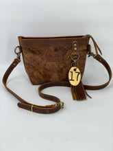 Load image into Gallery viewer, Small Brindle Hair-on-Hide Leather Crossbody Bag