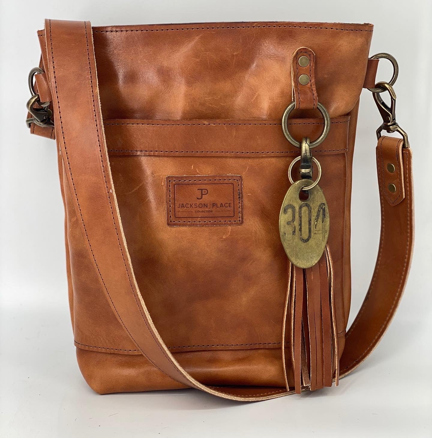 Small Wickett & Craig Leather Buck Brown Bucket Bag