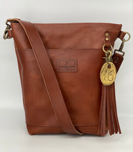 Load image into Gallery viewer, Large Wickett & Craig Leather Cognac Bucket Bag