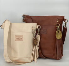 Load image into Gallery viewer, Small Natural Veg-Tan Leather Bucket Bag