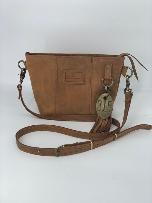 Small Light Brown Leather Crossbody