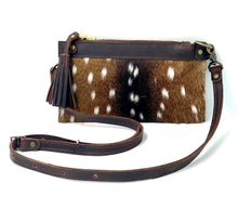 Load image into Gallery viewer, Banded Axis Deer Hair-on-Hide Leather Crossbody / Clutch Bag