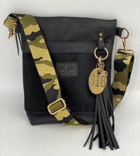 Load image into Gallery viewer, Metallic Camo Adjustable Woven Bag Strap - Camouflage Green/Black