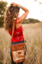 Load image into Gallery viewer, Carmel Palomino Hair-on-Hide Small Leather Bucket Bag
